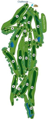 Map of the Golf Course