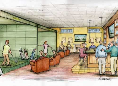 Artist Rendering of the The Tour Bar and Simulator